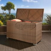 Luxury Outdoor Garden Brown Rattan Storage Box