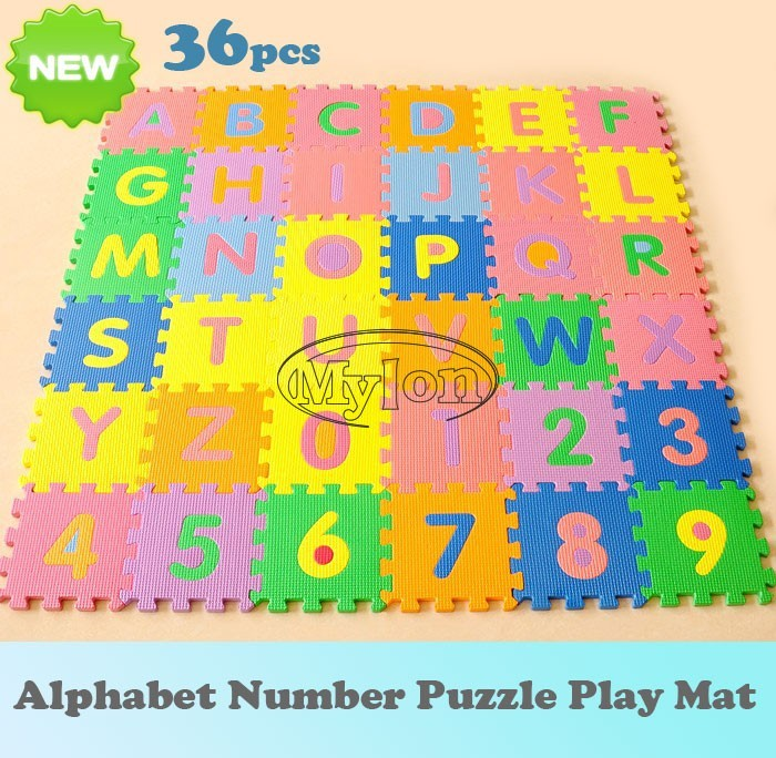 36pcs Kids Baby Alphabet Number Puzzle Interlocking Eva