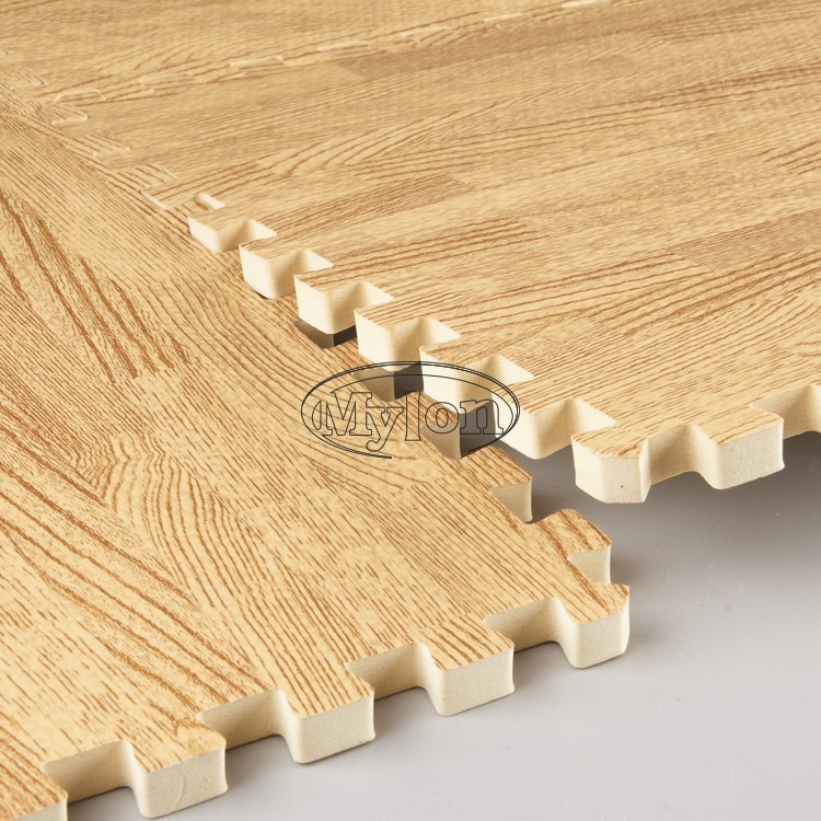 Wood Effect Eva Interlocking Soft Cushion Office Gym Floor Mats Yoga
